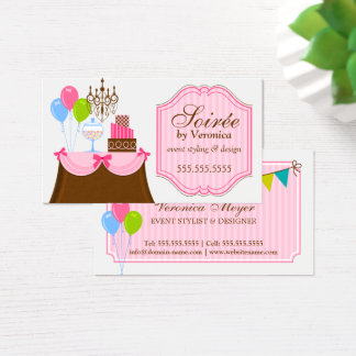 Event Stylist and Design Business Card