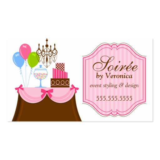 Event Stylist and Design Business Cards