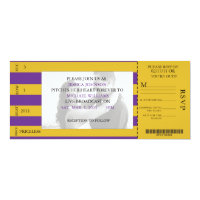 Event Ticket Wedding Invitation