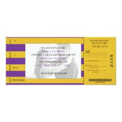 Event Ticket Wedding Invitation 4