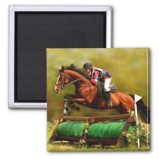 Eventer - Horse Art 2 Inch Square Magnet