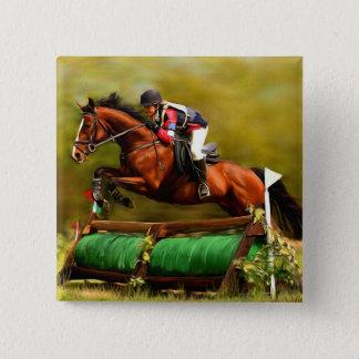 Eventer - Horse Art Pinback Button