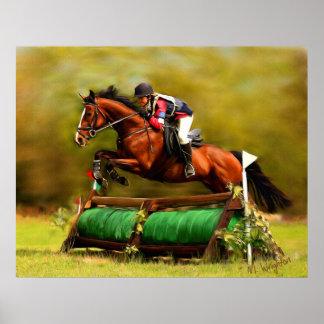 Eventer - Horse Art Poster