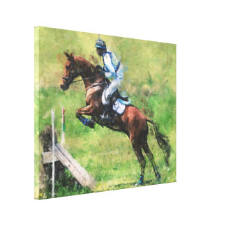Eventer jumping canvas print