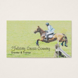 Eventer on a cross country course business card
