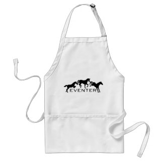 Eventer with Three Jumping Horses Adult Apron