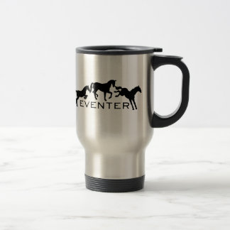 Eventer with Three Jumping Horses Mugs