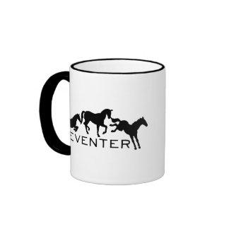 Eventer with Three Jumping Horses Coffee Mug