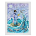 Eventide Geisha Dolphin Medium Poster Print Art