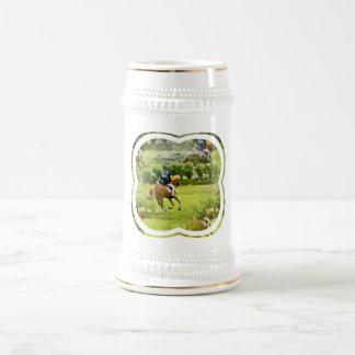 Eventing Horse Beer Stein Coffee Mug