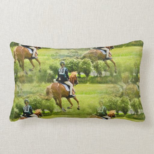 Eventing Horse Pillow