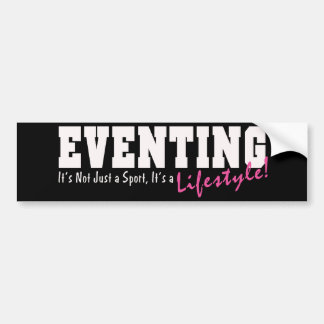 Eventing Lifestyle Car Bumper Sticker