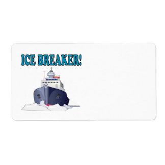 Evento para romper el hielo etiquetas de envío