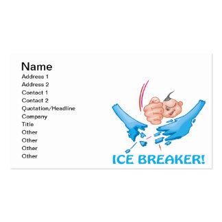 Evento para romper el hielo tarjetas de negocios