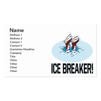 Evento para romper el hielo tarjetas de visita