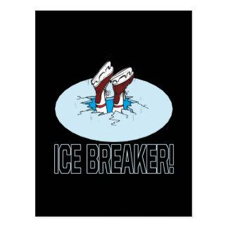 Evento para romper el hielo tarjeta postal