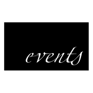 Events (event planner) business card