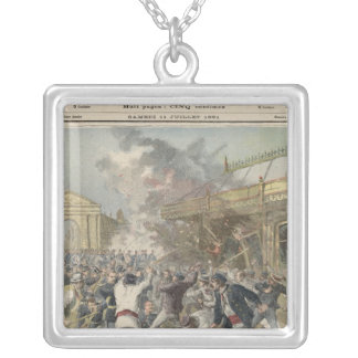 Events in Bordeaux Square Pendant Necklace