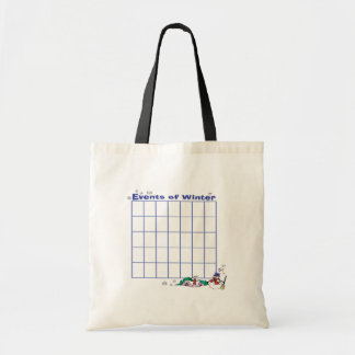 Events Of Winter Calender Tote Bag