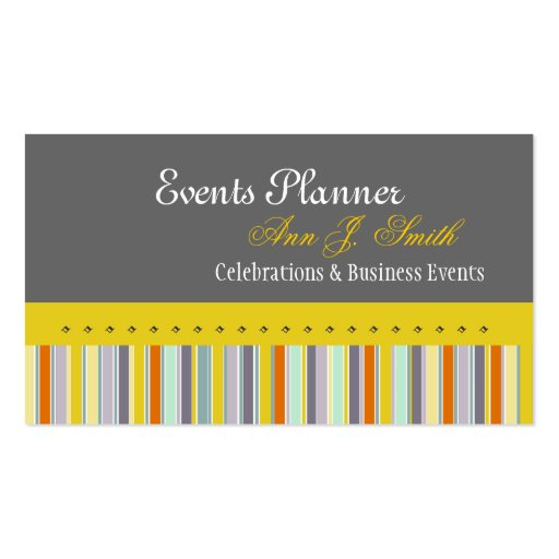Events Planner Business Cards