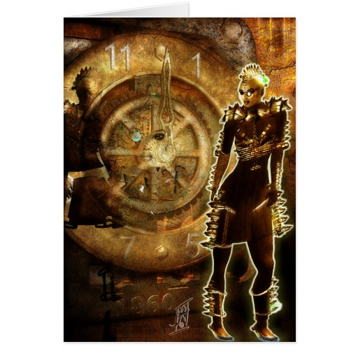 EVEolution STEAMPUNK style Greeting Card