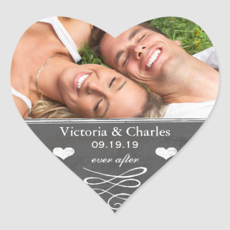 Ever After Chalkboard Wedding Save the Date Seal