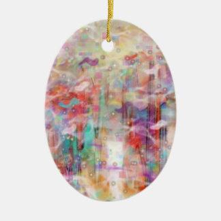 """""""Ever After"""" Digital Dreamscape Art Ceramic Ornament"""