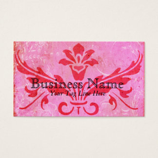 Ever After Pink Damask & Toile Business Cards