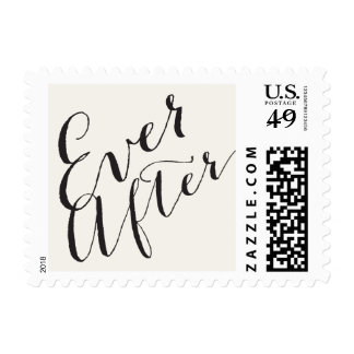 Ever After Script Calligraphy Wedding Stamps