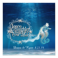 Ever After Seahorses Invitation