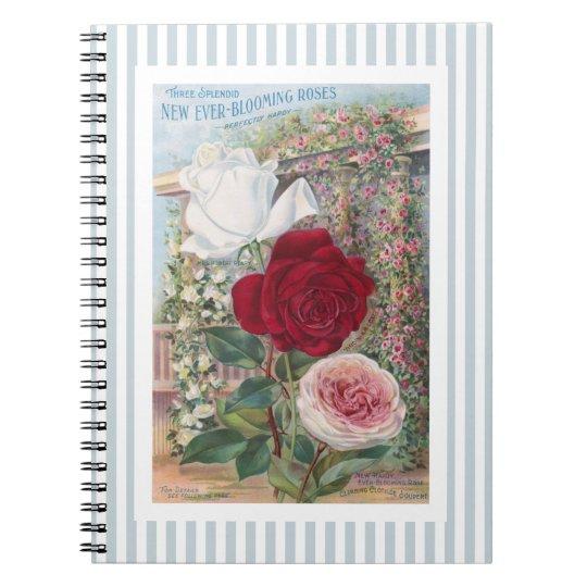 Ever-Blooming Roses Vintage Art Notebook