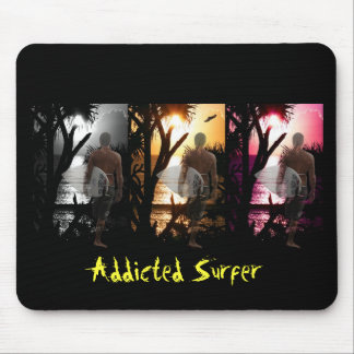 Ever Changing Season Surfer Mouse Pad