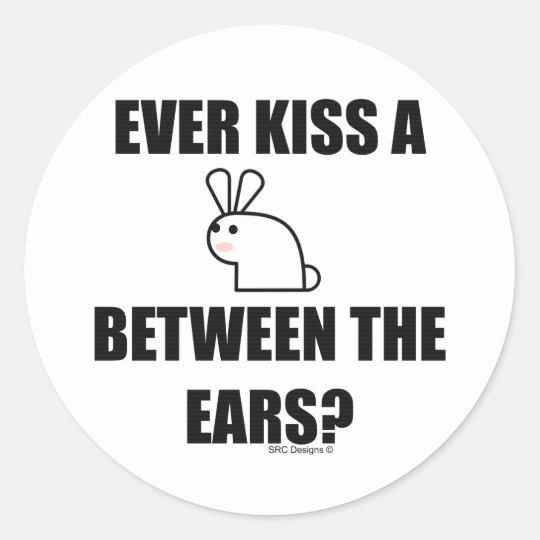 EVER KISS A BUNNY? STICKER