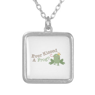 Ever Kissed A Frog? Square Pendant Necklace