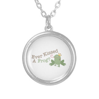 Ever Kissed A Frog? Round Pendant Necklace