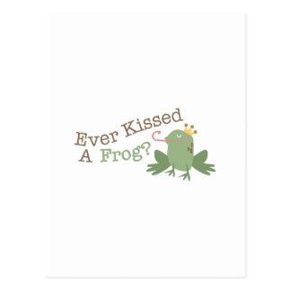 Ever Kissed A Frog? Postcard