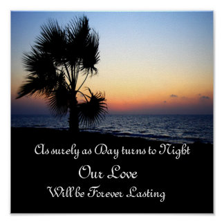 Ever Lasting Love Beach Posters