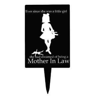 Ever since she was a little girl ...no, really... cake topper