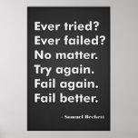 Ever tried? Ever failed? Print