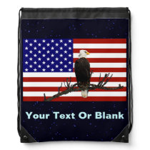 Ever Vigilant Bald Eagle Drawstring Backpack