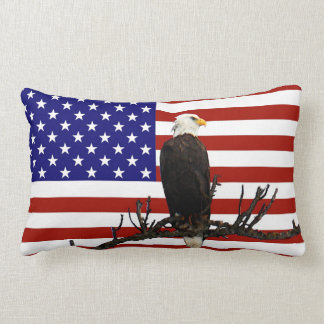 Ever Vigilant Bald Eagle Lumbar Pillow