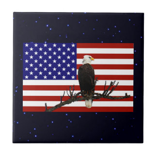 Ever Vigilant Bald Eagle Tile
