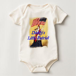 """Ever Vigilant"" Little Patriot Baby Baby Bodysuit"