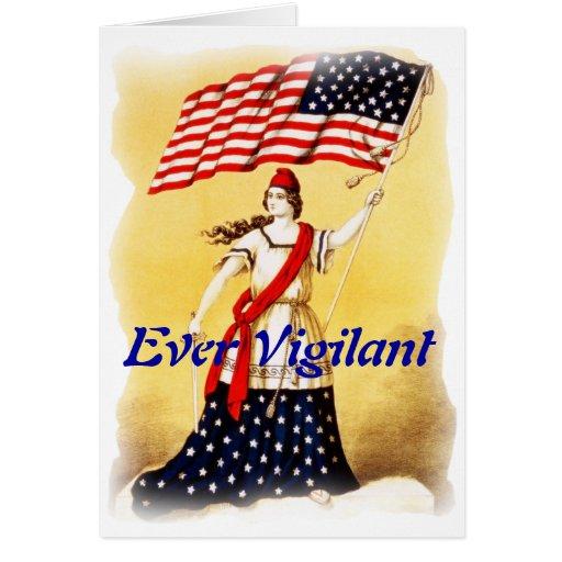 """""""Ever Vigilant"""" Vintage Patriotic Greeting Cards"""