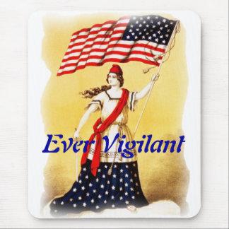 """Ever Vigilant"" Vintage Patriotic Mouse Pad"