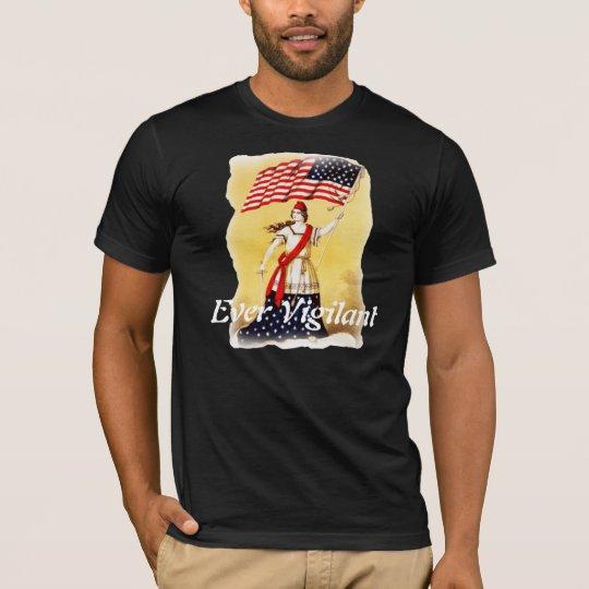 """Ever Vigilant"" Vintage Patriotic T-Shirt"