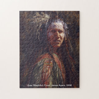 Ever Watchful, Native American warrior puzzle