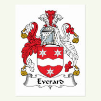 Everard Family Crest Postcard