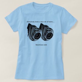 Everbody loves twins...  Turbo  - Womens T-Shirt