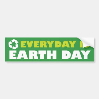 Everday is Earth Day bumper sticker